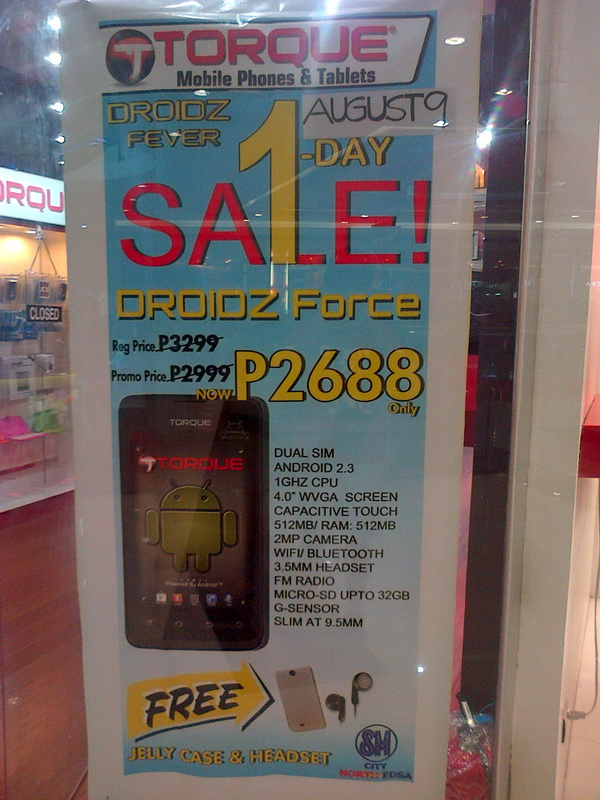 Come August 9, the DROIDZ Force will cost only PhP 2,688.