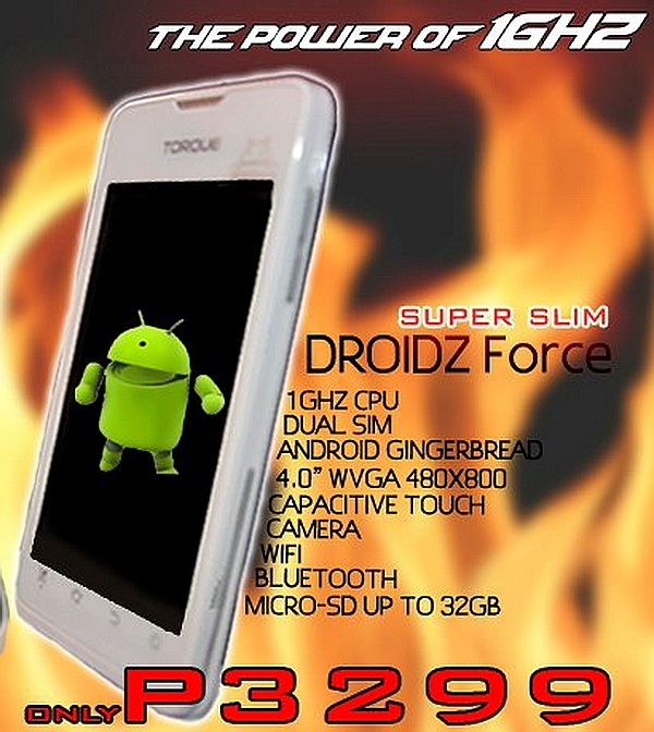 The Torque DROIDZ Force has a regular price of PhP 3,299.