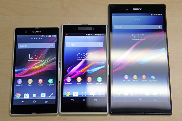 "The Z1's 5"" screen is the same size as the Xperia Z's, but the Z1 is slightly bigger and thicker."