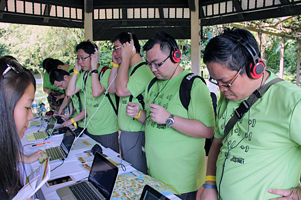 It was not easy to identify the various animals, with many of the participants concentrating intently while listening to the audio tracks.