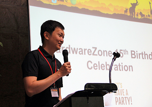 Welcome speech by Dr. Jimmy Tang, Group Editor-in-Chief of HardwareZone.