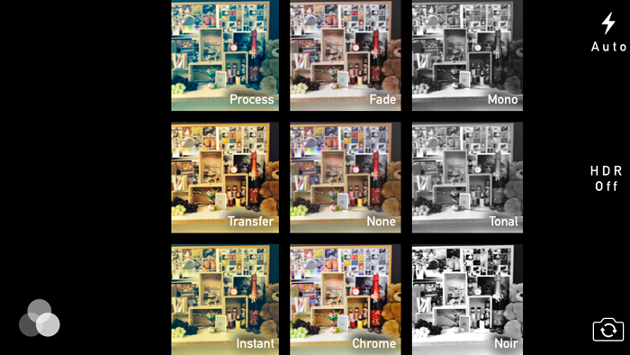 iOS 7 adds a number of Instagram-like filters.
