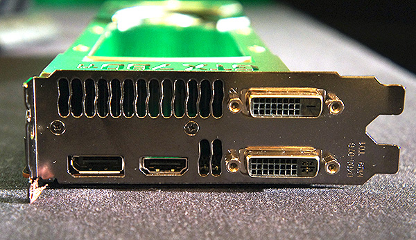 The GeForce GTX 780 Ti will sport the usual two dual-link DVI ports, DisplayPort and HDMI port.