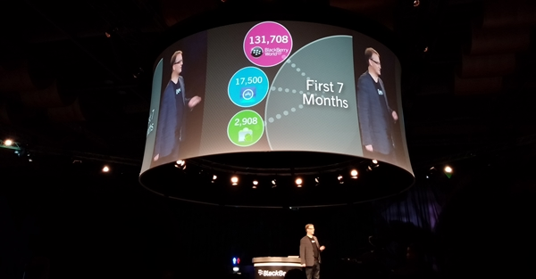 Alec Saunders, Vice President of Developer Relations, talked about the growing momentum of BlackBerry World.