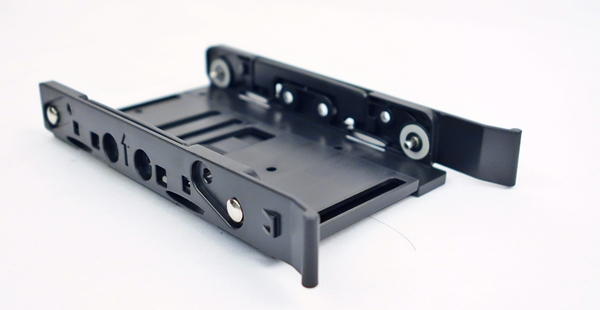 The tray that was removed from the 2.5-inch drive enclosure.