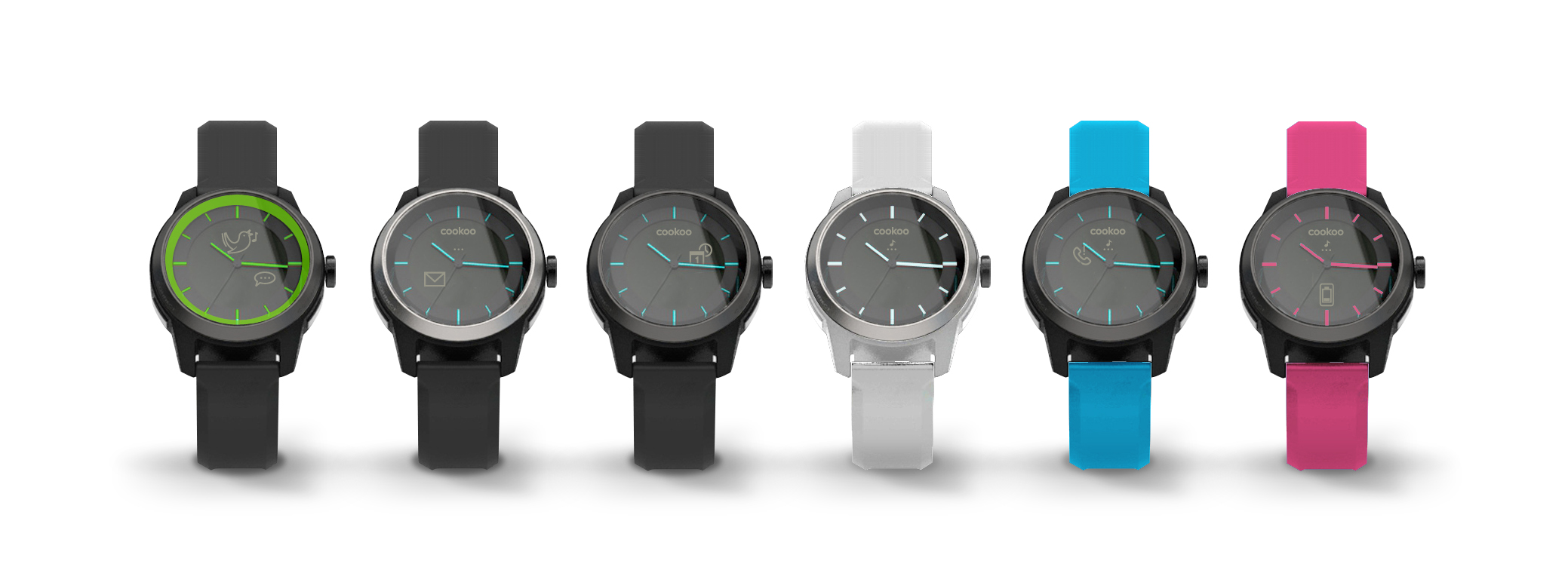 Cookoo the Connected Watch comes in different colors to suit your style.