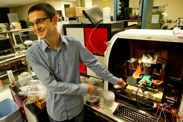 Mr. Max Shulaker, a Stanford graduate student, is a leading member of the research group that built the carbon nanotube computer. (Image Source: New York Times)