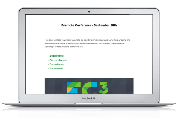 Presentation Mode in Evernote for Mac 5.3.