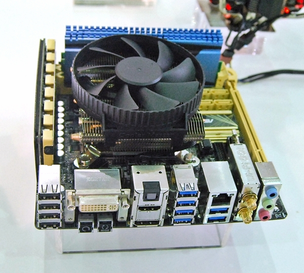 The Cooler Master GeminII mini CPU cooler.