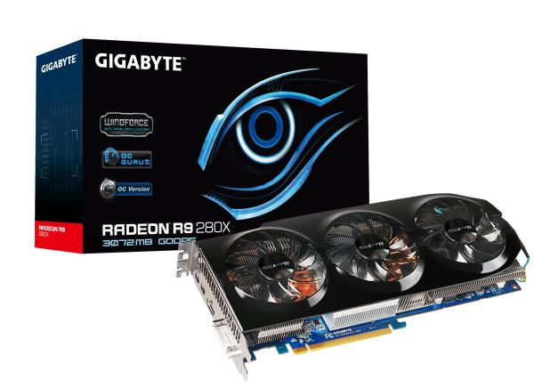 Gigabyte released the R9 280X OC Edition and the R9 270X OC Edition. Seen here is the R9 280X OC Edition, with 3GB of GDDR5 memory