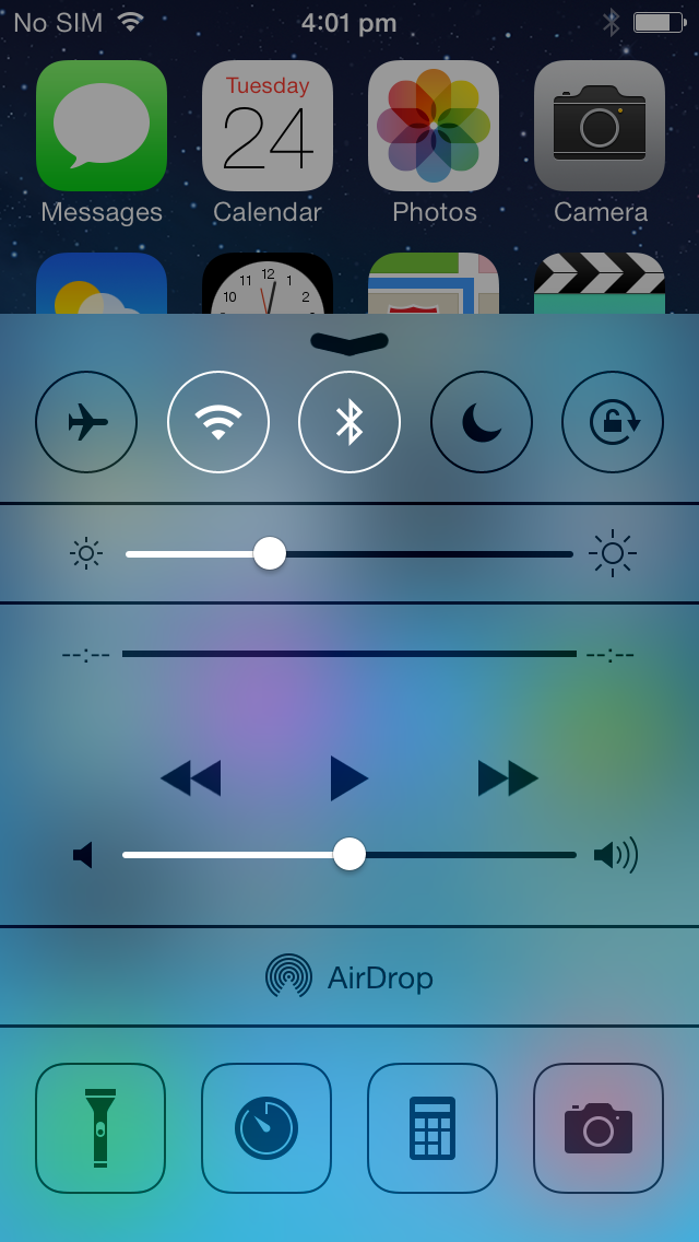 Control Center adds an Android-like quick settings panel that lets you quickly adjust various system settings. It also has a few app shortcuts.