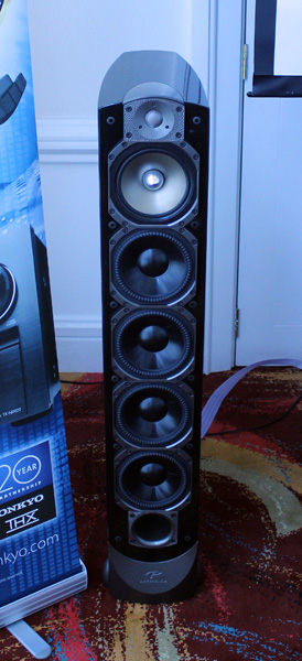 The tall and majestic Signature S8 speakers from Paradigm have multiple drivers to ensure quality audio.