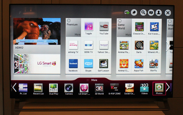 Not much has changed with regards to LG's smart feature suite, although there are a few new additions.