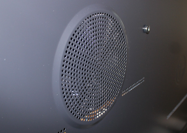 The 65LA9700 has a rear-firing sub-woofer as opposed to the much smaller down-firing sub-woofer more commonly found on TVs today.