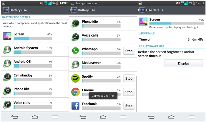 These are the apps that were used. On-screen time is slightly over five hours.
