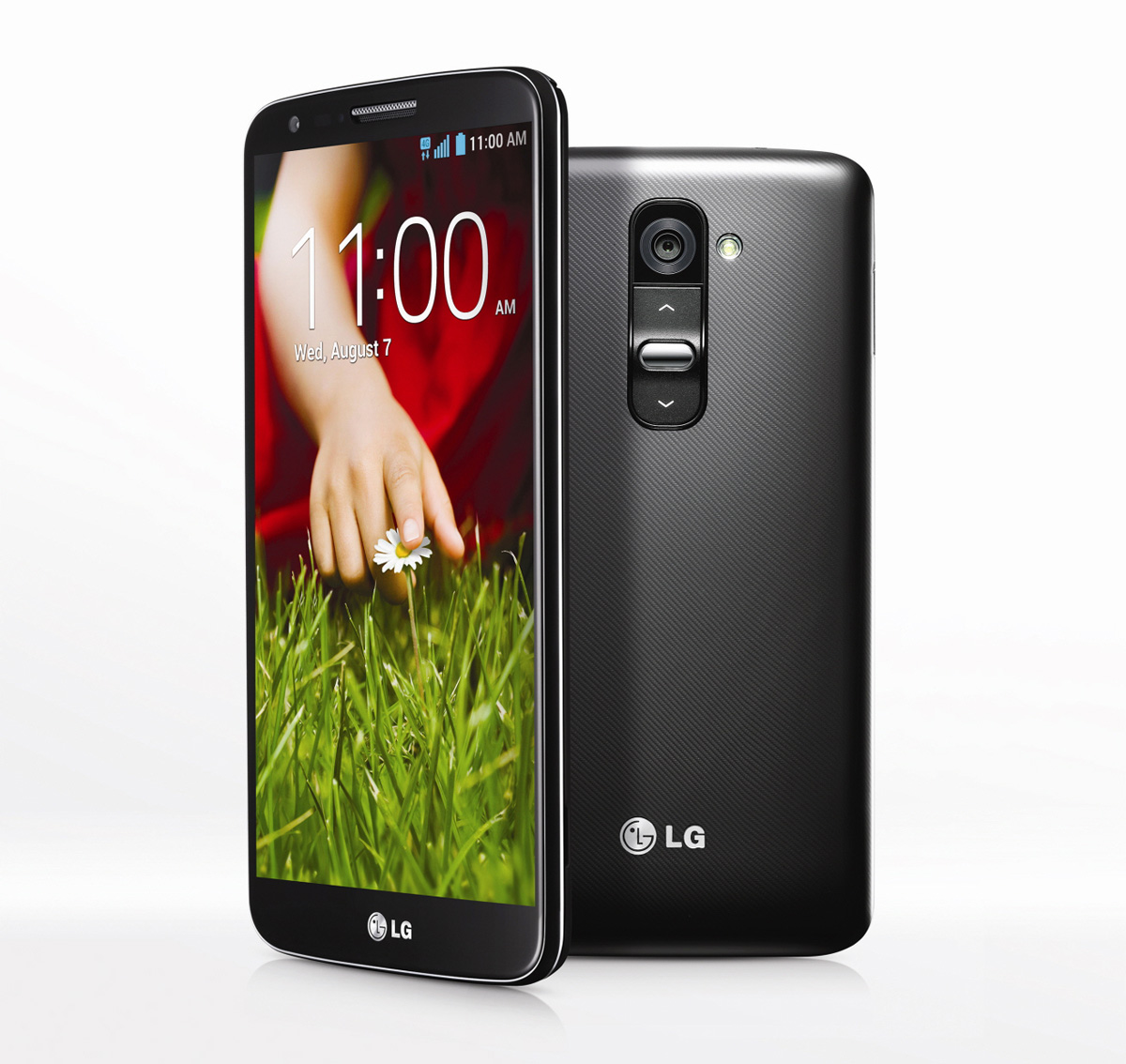 A shot of the LG G2.