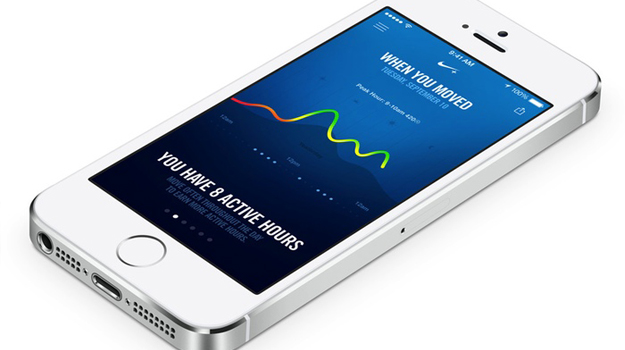 The Nike+ Move app will be one of the first to take advantage of the 5S' M7 coprocessor.