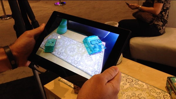Qualcomm used a Sony Xperia Tablet Z to demonstrate how its new augmented reality technology allows you to play games on the go.