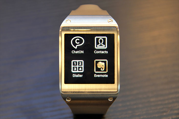 Samsung says 70 optimized apps for the Galaxy Gear will be available.