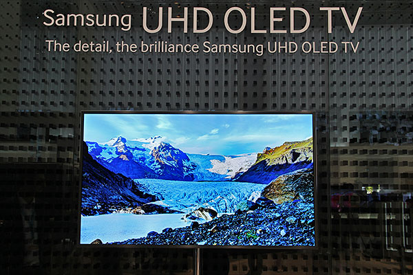 The UHD OLED TV is also available in a flat format.