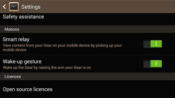 These are the two more important features that you ought to take note of when setting up the Samsung Galaxy Gear.