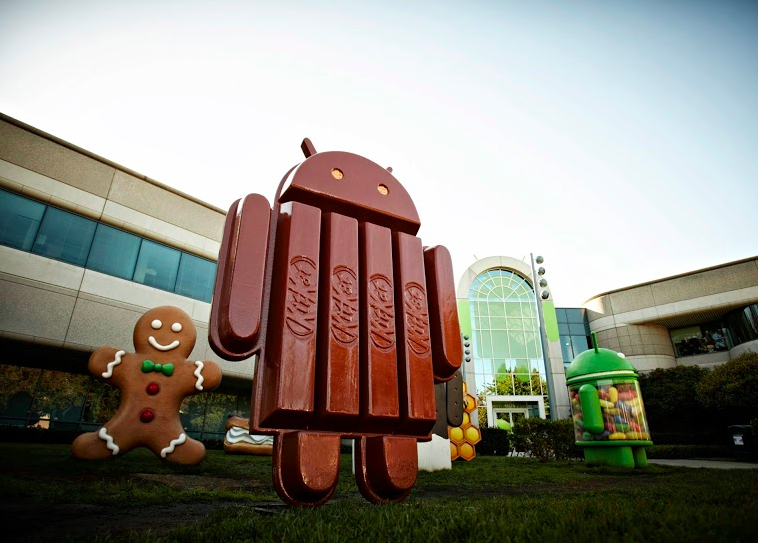 Pichai posted a picture of the new KitKat Android statue outside Google headquarters.