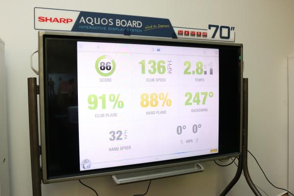 The Sharp AQUOS Board, a 70-inch, fully interactive, touchscreen, Full HD TV