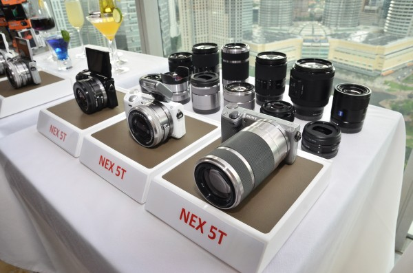 Apart from the NEX-5T itself, many of the E-mount lenses were also brought to the event for the media to try out on the cameras
