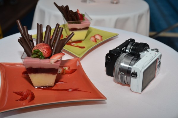 As we sat down for dinner, it was hard to tell which was a sweeter deal, the NEX-5T or the delicious dessert