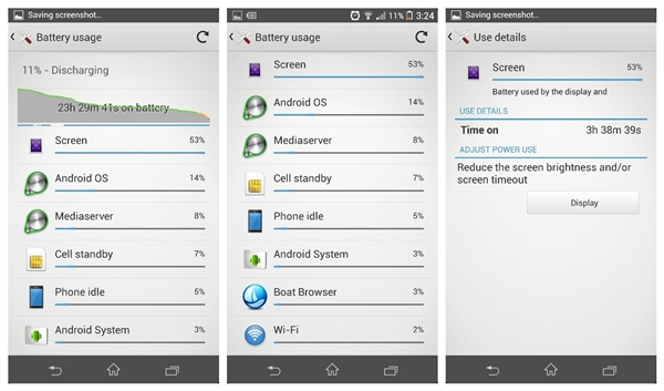 The Sony Xperia Z1 could last a day of usage at work.