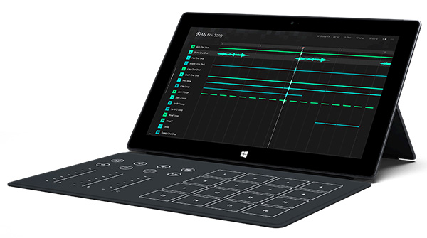 The Surface Music Kit is basically a Touch Cover redesigned for music production. It won't be for sale initially; instead, Microsoft will be seeding it to musicians for its Remix Project.
