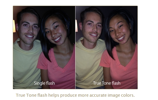 The Apple iPhone 5S is able to capture images with more accurate colors due to its True Tone flash. <br> Image source: Apple
