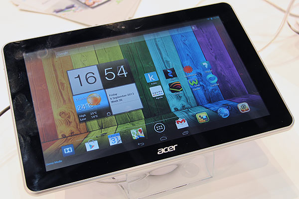 The Acer Iconia A3 is a 10.1-inch Android 4.2 tablet. It has a 1.2GHz quad-core processor, 16GB storage, and 1GB RAM.