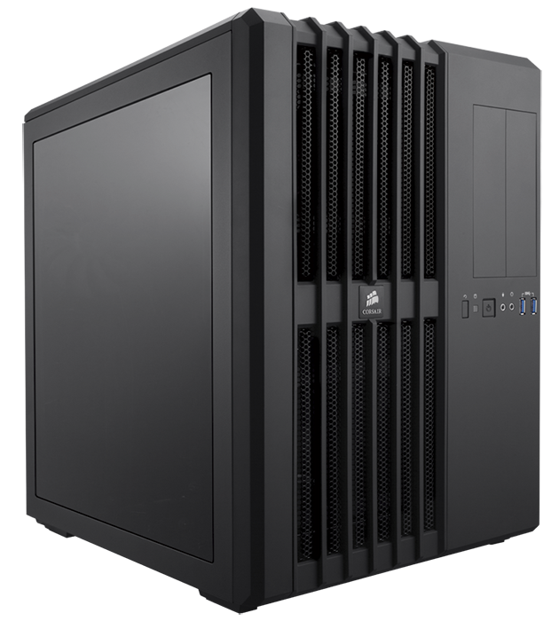 The Corsair Carbide Series 540 Air has a unique cube-like design. Inside are two separate chambers which purports to offer better cooling and easier setup.