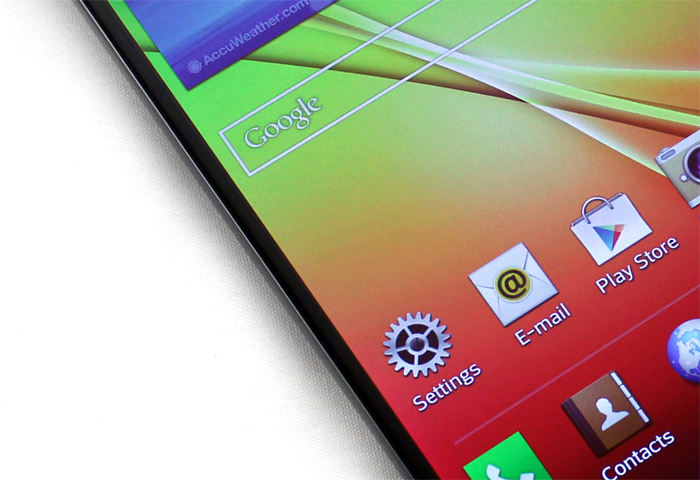 LG's Dual Routing technology allows for an insanely thin 2.65mm bezel.