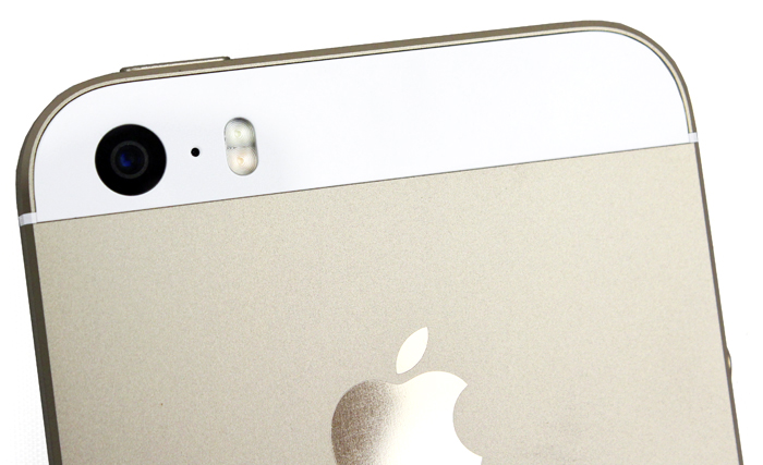 The Apple iPhone 5S has an 8-megapixel rear camera with an aperture of f/2.2.