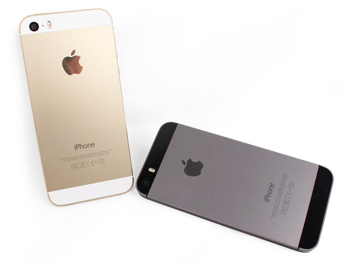 The 5S comes in two new colors: Gold and Space Gray. The third available color, Silver, is the same as last year's white/silver iPhone 5.