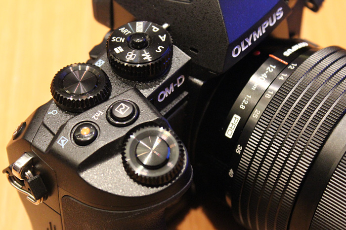 The E-M1 comes with twin control dials, just like on the E-M5 and the E-P5.