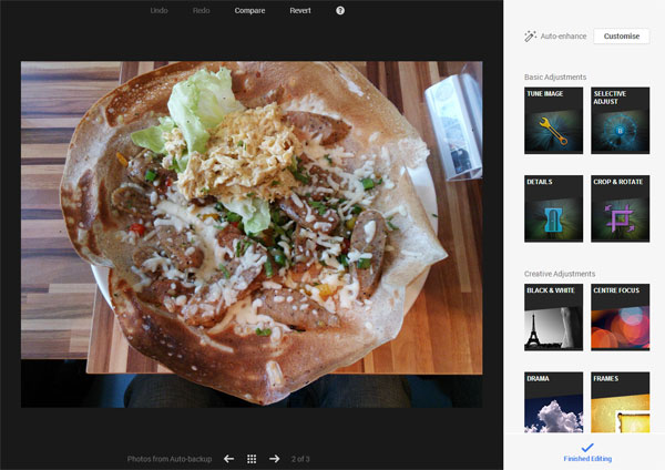 Google+ gets some new, easy-to-use photo editing tools that are derived from the desktop version of Snapseed.