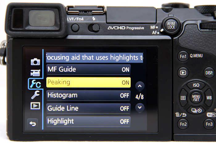 Panasonic has some of the best UI found on cameras, now the tool-tips handily scroll across the top screen, better than some other cameras' UI which obscure the controls with pop-up tips.