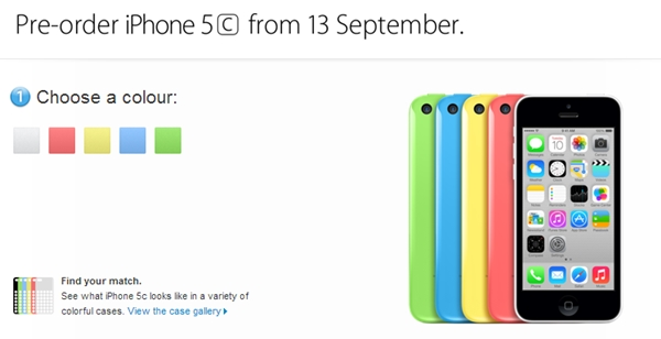 You can pre-order the Apple iPhone 5C from Friday, 13 September.