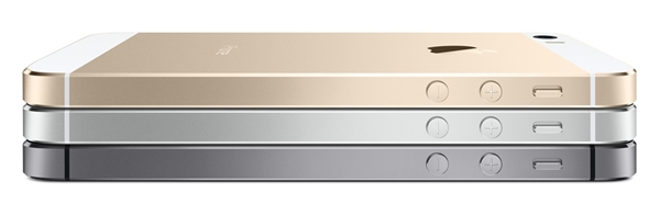 The Apple iPhone 5S comes in three colors: silver, space grey and gold.
