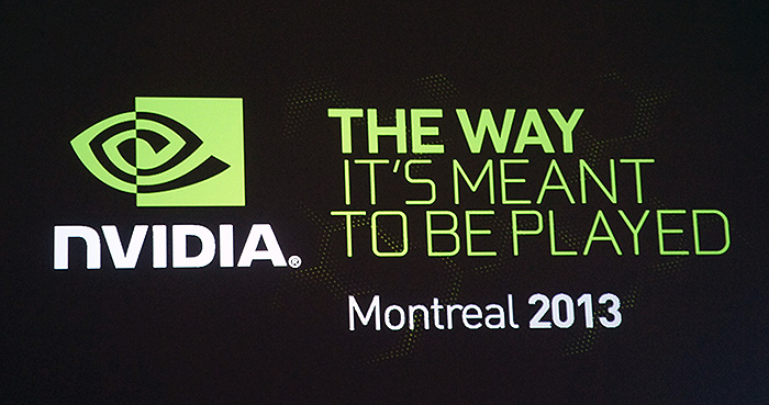 Montreal is home to many game studios, so it makes sense for NVIDIA to hold their special event there.