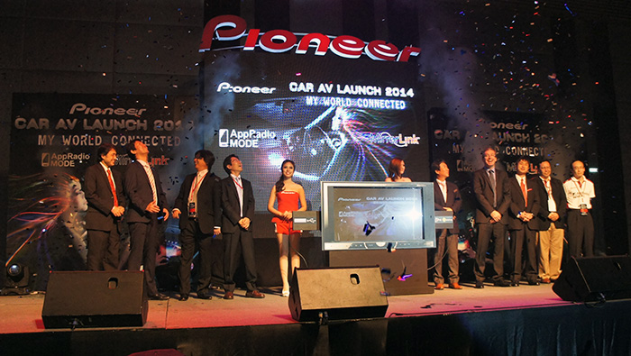 Top Pioneer executives from around the region were all present as Pioneer launched a wide range of new multimedia receivers, CD receivers, amplifiers and speakers.