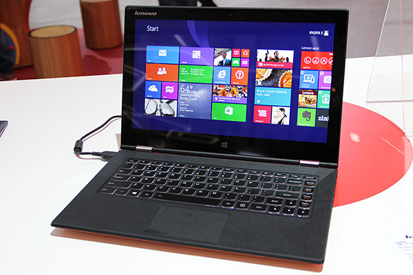 The Lenovo Yoga 2 13 has an QHD+ (3,200 x 1,800) IPS screen. It weights just 1.5kg, with a z height of 15.5mm.