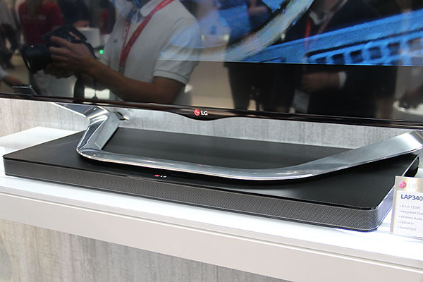 Lg Sound Plate Is A Flattened Sound Bar You Can Put Your