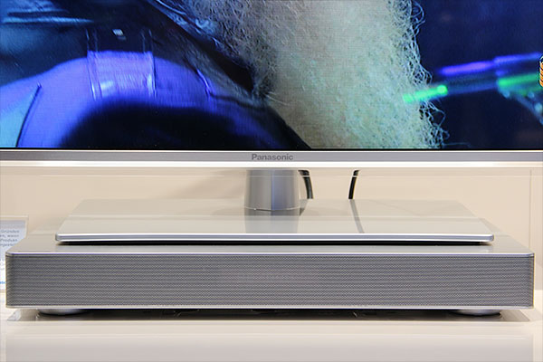 the panasonic sc hte80 sound board is a tv stand with powerful sound
