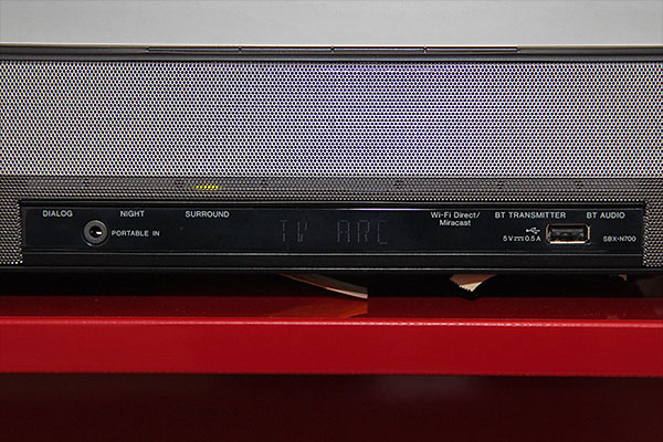 The front panel of the Pioneer SBX-N700 and N500.