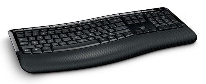In the meantime, Microsoft made keyboards like these, which were curved but not split.