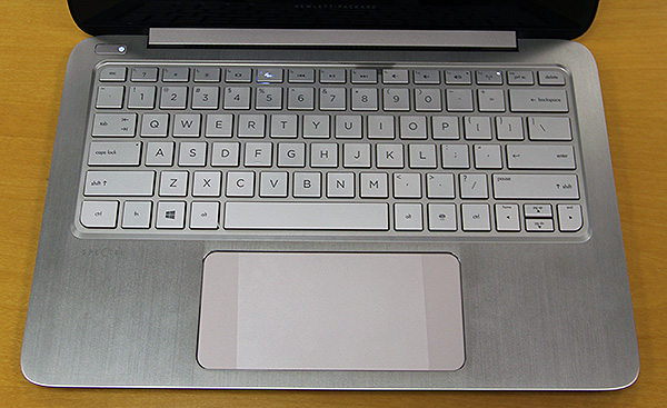 "Note the two ""Control Zones"" on the ultra-wide trackpad. They mimic the left and right most corners of your display, allowing users to quickly activate Charms and snap apps of the Windows 8 operating system."